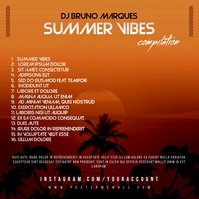 Summer Vibes The Mixtape CD Cover Back ปกอัลบั้ม template