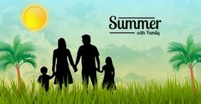 Summer with Family Template delt Facebook-billede