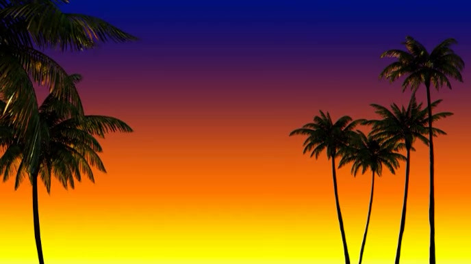 Summer Zoom Virtual Background Video Pagtatanghal (16:9) template