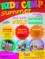 Customizable Design Templates For Summer Camp Flyer