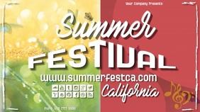 summerfest5 Affichage numérique (16:9) template