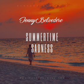 Summertime Sadness CD Album Cover Template