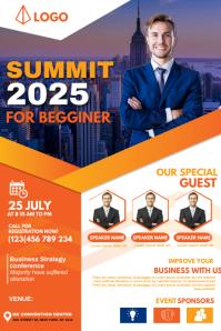 Summit flyer design Banner 4' × 6' template
