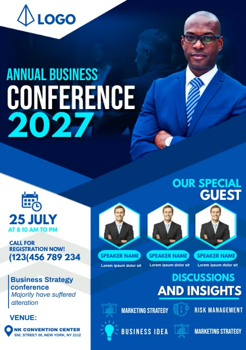 annual business conference A4 template