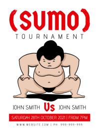 Sumo Tournament Poster 传单(美国信函) template
