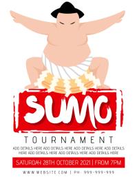 Sumo Wrestling Poster Flyer (US Letter) template