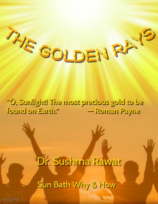 Sun rays Book Cover Template Løbeseddel (US Letter)
