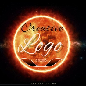sun star burning RING LOGO Design TEMPLATE Instagram na Post