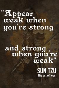 Sun Tzu inspirational quotes poster 1