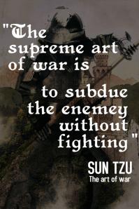 Sun Tzu inspirational quotes poster 2