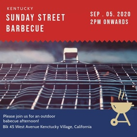 Sunday Barbecue Event Invite Video Template