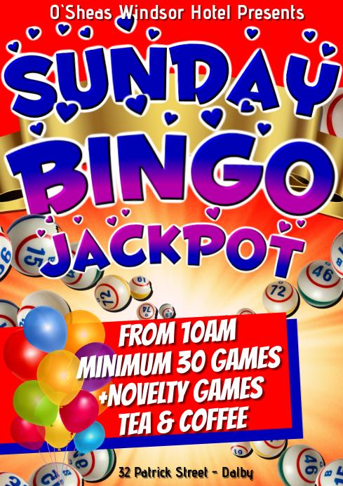 Sunday Bingo A1 template