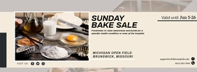 Sunday Brunch Bakery Facebook Cover template