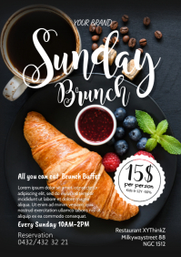 Sunday Brunch Breakfast Buffet Restaurant Ad