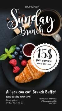 Sunday Brunch Breakfast Buffet Restaurant Ad