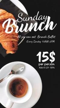 Sunday brunch Buffer Breakfast coffee ad Instagram 故事 template