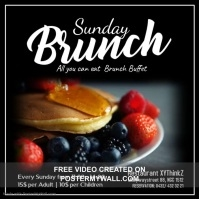Sunday Brunch Buffet Eggs and Bacon Video Social Media