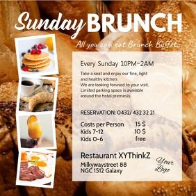 Sunday Brunch Buffet Flyer Breakfast video