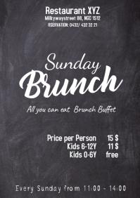 Sunday Brunch Buffet Flyer Chalk Board