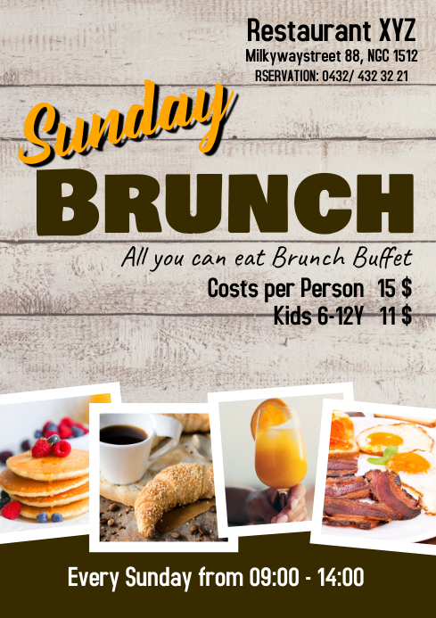 Sunday Brunch Buffet Flyer