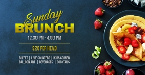 Sunday brunch Facebook-Veranstaltungscover template