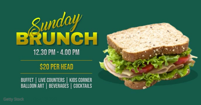 Sunday brunch Facebook Event Cover template