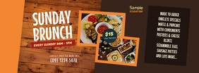 Sunday Brunch Facebook Cover Photo template