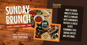 Sunday Brunch Facebook Shared Image template