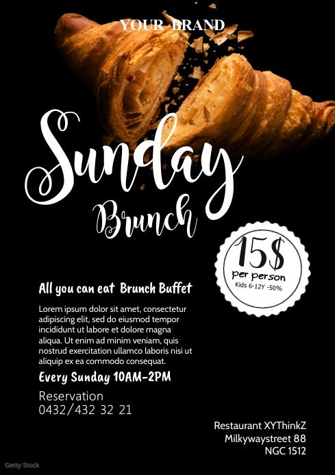 Sunday Brunch Flyer Invitation Poster Event