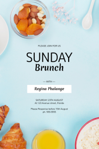 Sunday Brunch Flyer Template Poster