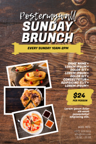 Sunday Brunch Flyer Template Плакат