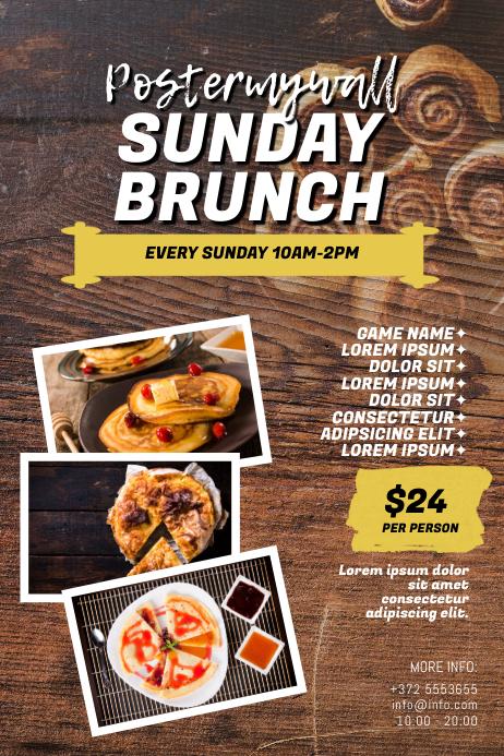 Sunday Brunch Flyer Template