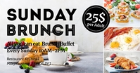 Sunday Brunch Invitation Header Cover Event Gambar Bersama Facebook template