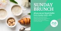 Sunday Brunch Invitation Header Cover Event template