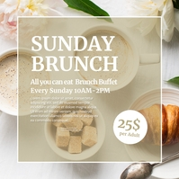 Sunday Brunch Invitation Instagram ad Event template