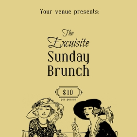Sunday Brunch post ad
