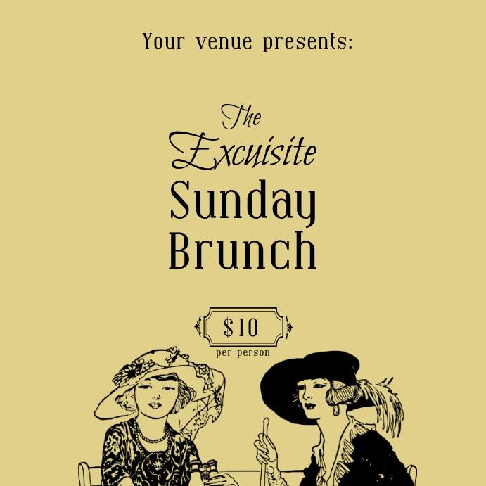 Sunday Brunch post ad