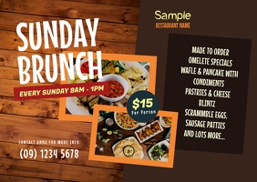 Sunday Brunch Postcard template