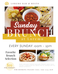 Sunday Brunch Flyer