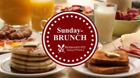 Sunday Brunch Promo Video Restaurant Header Breakfast Digital Display (16:9) template