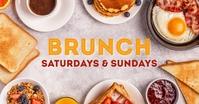 Sunday Brunch template Header cover Breakfast Изображение, которым поделились на Facebook