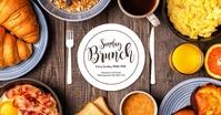 Sunday Brunch template Header cover Breakfast Facebook Gedeelde Prent