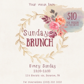 Sunday brunch template instagram