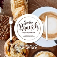 Sunday Brunch template Social media Breakfast Instagram-opslag