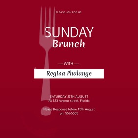 Sunday Brunch Video Instagram Template