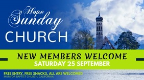 Sunday Church Event Advertisement Digital Display Video Цифровой дисплей (16 : 9) template