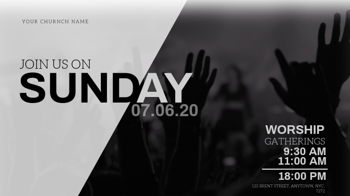 Sunday Church Event Flyer Template Thumbnail sa YouTube