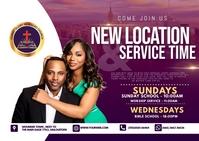 Sunday church flyer Postal template