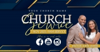 Sunday Church ONLINE Event Flyer Template Facebook Gedeelde Prent