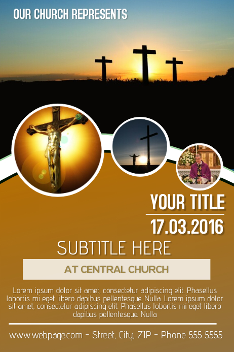 sunday church flyer